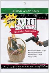 Basket Accents Shrink Wrap Bags - 6