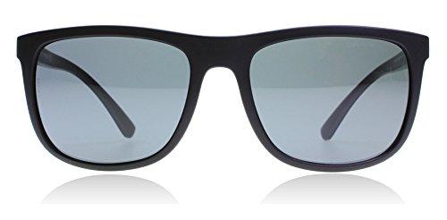 Emporio Armani EA4079 504287 Matte Black EA4079 Wayfarer Sunglasses Lens - Armani Sunglasses Emporio Polarized