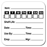 """Item Shelf Life 2""""X2"""" Ultra Removable Food Rotation Labels, Roll of 500"""