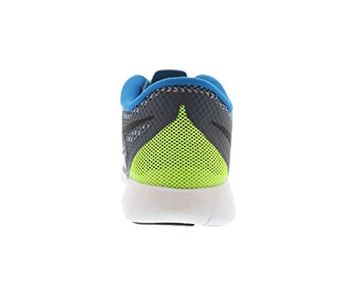 Nike Free 5.0 (gs) Löpande Tränare 644428 Junior Gymnastikskor Mörk Magnet Grå Svart Volt Foto Blå 004