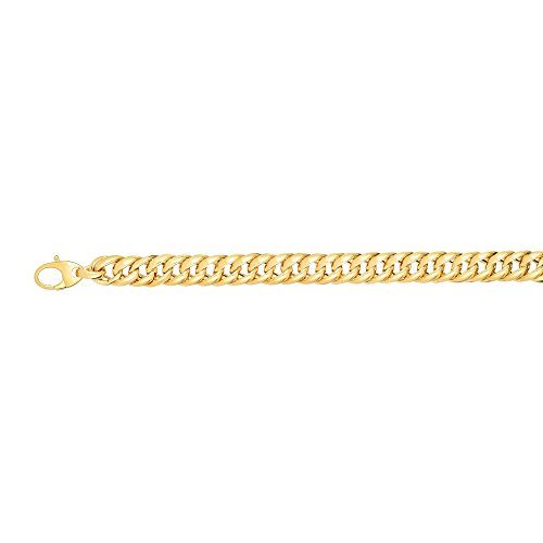14kt 7.5'' Yellow Gold 14.8mm Shiny Twisted Oval Miami Cuban Link Type Fancy Bracelet with Lobster Clasp by BH 5 Star