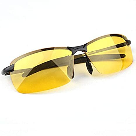 5c9d06e2e93 Image Unavailable. Image not available for. Color  BFY Men s Glasses Car Drivers  Night Vision Goggles Anti-Glare Polarized Driving Sunglasses Yellow Lens