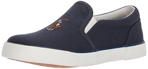 Polo Ralph Lauren Kids Boys' Bal Harbour II Sneaker, Navy, 1 Medium US Little Kid (1 Harbour Bal)