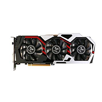 Glumes Colorful iGame GTX 1060 3GB Video Graphics Card 192bit GDDR5 (black)