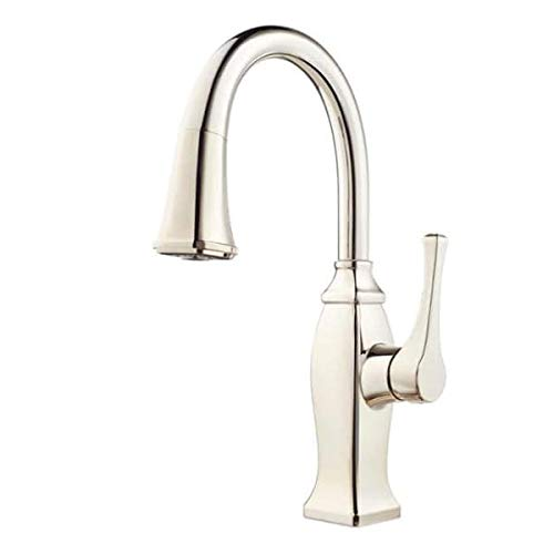 Pfister GT529BF Briarsfield Pullout Spray Kitchen Faucet with AccuDock Technolog, Polished Nickel