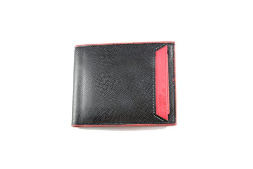 Wallet Holder Red Artmi Window Capacity Id Leather Removable Extra Unisex with Waterproof Card and Novelty Credit nYqYH6BZx