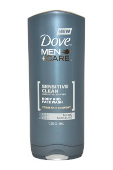 Sensitive Clean Body And Face Wash By Dove For Men - 13.5 Oz Body Wash