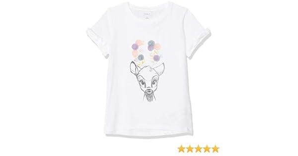 NAME IT Nmfbambi Kaatje SS Top Wdi Camiseta, Blanco (Bright White Bright White), 104 para Niñas: Amazon.es: Ropa y accesorios