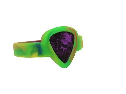 Bracelet Wristband Rock - Rock Wristband Guitar Pick Rubber Bracelet Holder Tie Dye Youth to Adult Small