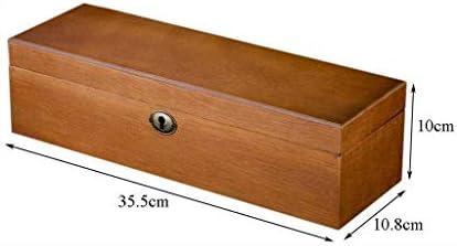Cajas para relojes 6 Retro Pack de Madera de Alto Grado Caja de Reloj Caja de Reloj de exhibición de la joyería del día de Tarjeta de Almacenamiento de Caja cumpleaños de