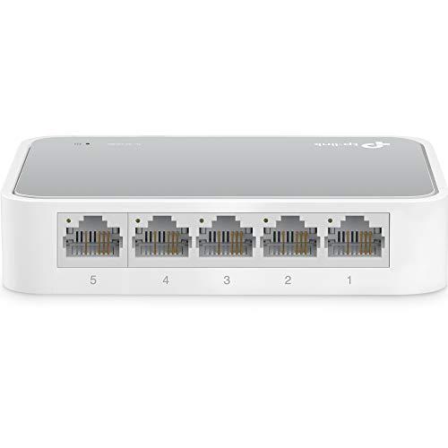 TP-Link 5 Port Fast Ethernet Switch   Desktop Ethernet Splitter   Ethernet Hub   Plug and Play   Fanless Quite   Unmanaged (TL-SF1005D)