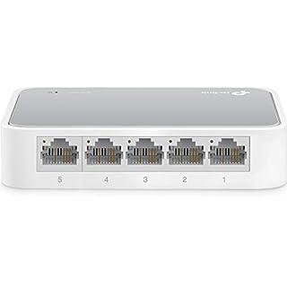 TP-Link 5 Port Fast Ethernet Switch | Desktop Ethernet Splitter | Ethernet Hub | Plug and Play | Fanless Quite | Unmanaged (TL-SF1005D) (B000FNFSPY) | Amazon Products