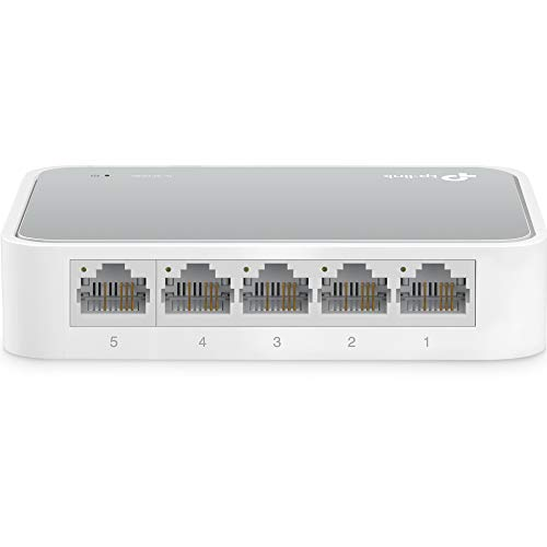 (TP-Link 5 Port Fast Ethernet Switch | Desktop Ethernet Splitter | Ethernet Hub | Plug and Play | Fanless Quite | Unmanaged (TL-SF1005D))