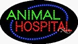 Animal Hospital LED Sign - 15 x 27 x 1 inches - Made in USA