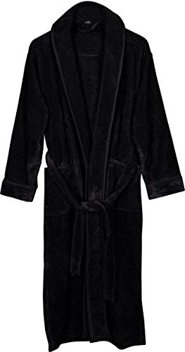 (NY Threads Women's Fleece Bathrobe - Shawl Collar Ultra Soft Plush Spa Robe (Large,)