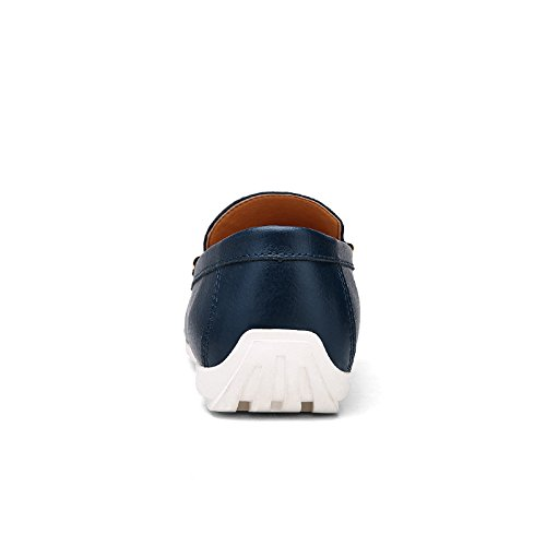 Abby 628 Mens Casual Loafers Slip-on Smart Driving Job Stylish Shoes Blue 8zcsM