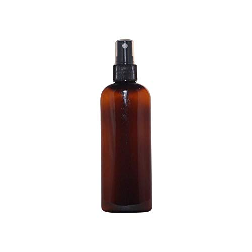 WM (Wholesale Set of 24) 4 Oz Amber Refillable Empty Plastic Bottle w/Fine Mist Spray. Ideal for Aromatherapy. Spritz, Mists, Room refreshers