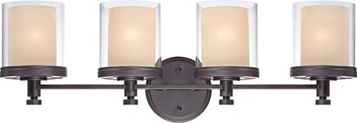 (Bathroom Vanity 4 Light with Sudbury Bronze Finish Iron Medium Base 30 inch 400 Watts)