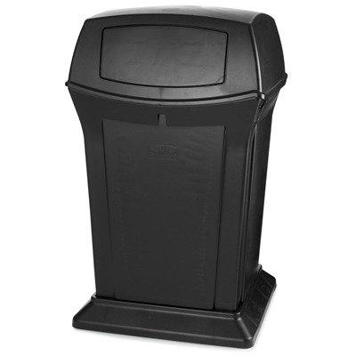 RCP917188BLA - Black Ranger Two Door Trash Receptacle, 45 Gallon