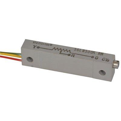 500K Ohm 22 Turn Pack of 10 1 Watt 1//4 Size Pack of 10 1//4 Size BI Technologies 56LR500K Rectangular Cermet Potentiometer