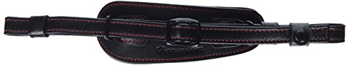Herringbone Heritage Leather Camera Hand Grip Type 1 Hand Strap for DSLR with Multi Plate, Black with Red Stitching ()