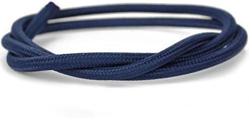 Ronde 3x0,75mm/² Grande flexibilit/é Bleu royal C/âble textile pour lampes 3 m/ètres de c/âble en une seule pi/èce Trois conducteurs