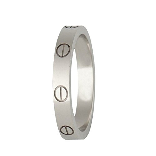 FHMZ Love Ring-Silve Lifetime Just Love You 4MM in Width Sizes 7 by FHMZ