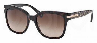 Image of Coach Womens Alfie Sunglasses (HC8103) Tortoise/Brown Acetate - Non-Polarized - 55mm