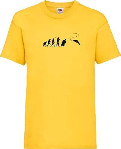 Shirtinstyle Camiseta de niño Evolution Pescador Pescar Pesca ...