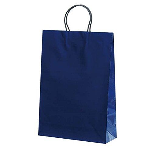 【ケース販売】 手提袋(ストレートバッグ) ST2才 プリティ紺 巾:320×:110×高さ:450 100枚(10枚×10包)   B079ZRMSYV
