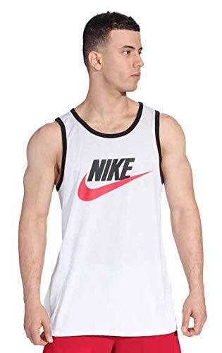 a8ada38b5b NIKE Mens Ace Logo Tank Top White Black University Red 779234-102 Size