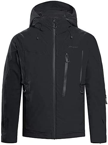 Snow Ski Jacket for Men Windproof Waterproof Breathable Insulated Snowboard Coat