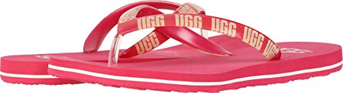 UGG Women's SIMI Graphic Flip-Flop, Sweet Sangria, 11 M US