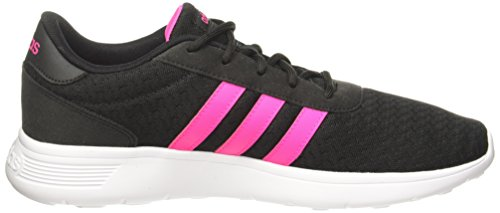 adidas Lite Racer, Zapatillas Para Mujer Negro (Core Black/shock Pink S16/ftwr Wht)