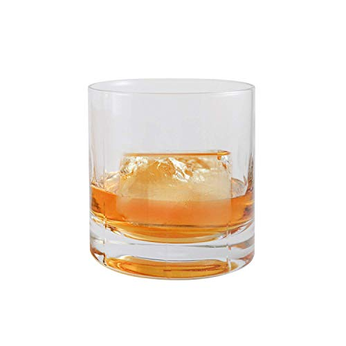 - Ambrosia Collection Zeus Whiskey Glasses - Premium 14 oz Large Scotch Old Fashioned Glasses fits Large Ice Cubes up to 2.25 inches - Set of 2