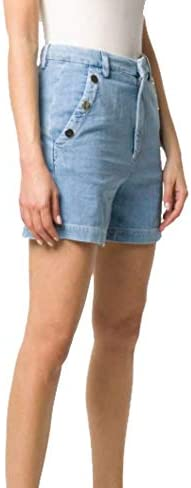 Dondup Fashion Woman DP504DF0232AD8800 Blue Cotton Shorts | Spring Summer 20