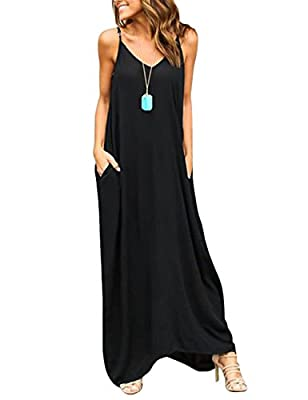 Yuandy Women Summer Sexy Off Shoulder V Neck Strap Maxi Dresses