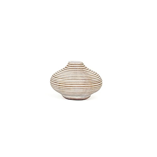 Torre & Tagus 901396 Colombo Ribbed Resin Mini Vase, Small,