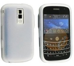 Clear White Silicone Soft Skin Case Cover for Blackberry Bold 9000
