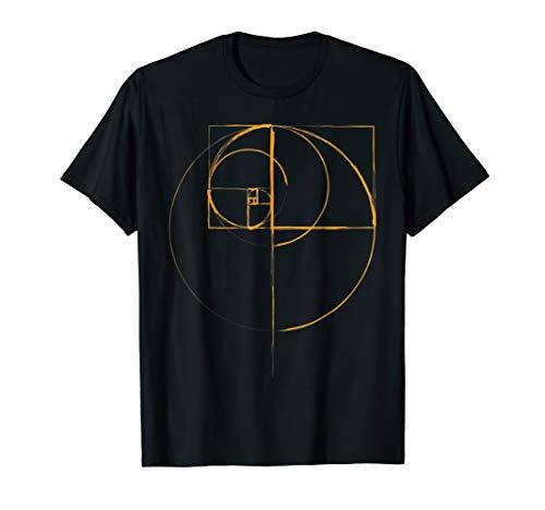 fibonacci golden ratio circle t shirt