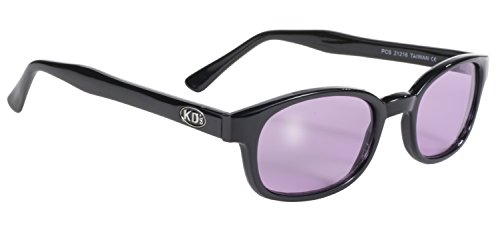 Pacific Coast Original KD's Biker Sunglasses (Black Frame/Purple - Biker Sunglasses Kd