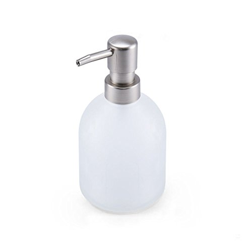 LUANT Glass Emulsion Bottle,Lotion Soap Dispenser Pump for Bathroom Accessories, Frosted Glass