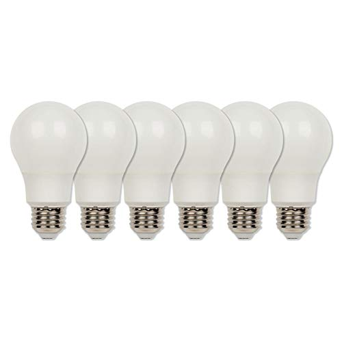 Westinghouse Lighting 4312720 60-Watt Equivalent Omni A19 Bright White Energy Star LED Light Bulb with Medium Base (6-Pack), Six Soft Piece