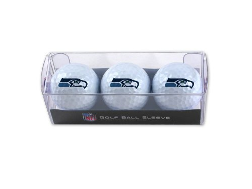 WinCraft NFL Seattle Seahawks 3-Pack Golf Ball Sleeve by WinCraft