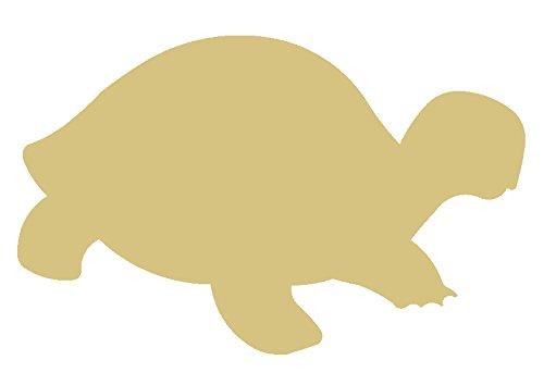 Tortoise Shell Paint - Turtle Cutout Unfinished Wood Sea Tortoise Shell Swimming Animal Zoo MDF Shape Canvas Style 2