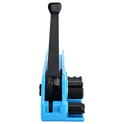 Manual Strapping Tensioner Cutter, Heavy Duty Poly Banding Tools, Cord Strapping Machine for 3/8