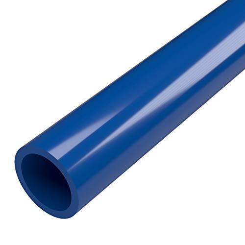 """FORMUFIT P114FGP-BL-5 Schedule 40 PVC Pipe, Furniture Grade, 5', 1-1/4"""" Size, Blue"""