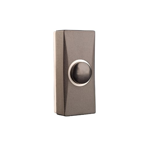 Byron 7900 Wired Door Bell Push - Black by Byron