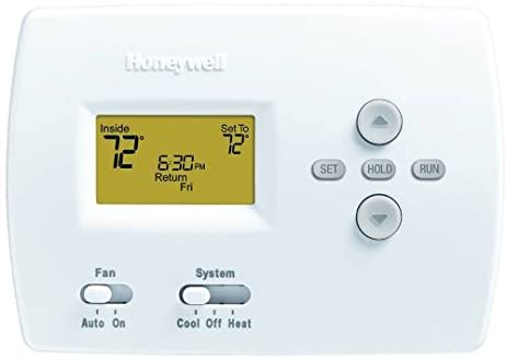 Honeywell Pro 4000 5-2 Programmable Digital Thermostat, 1 Heat/1 Cool,