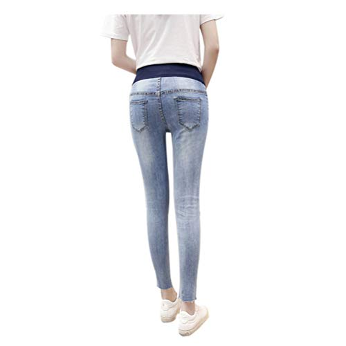 Con Stile 13 Vita Pantaloni Donna Incinta Deylaying Maternity Jeans Elastico In vpqwzXwfx